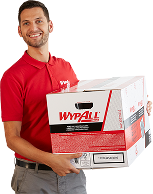 Man with a box WypAll