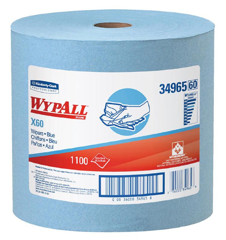 Купить протирочный материал 34965 WypAll X60 в рулоне 1100 листов от Kimberly-Clark Professional